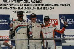 Gara 1, podio TCS, Karl Gustav Nerman, Jas Motorsport, Honda Civic-TCS2.0 #115, Arduini-Gaiofatto, 2
