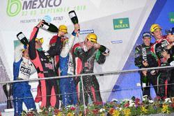 LMP2 podio: primer lugar Ricardo González, Filipe Albuquerque, Bruno Senna, RGR Sport by Morand, seg