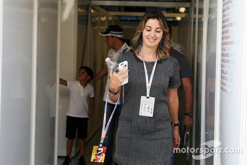Rafaela Bassi, wife of Felipe Massa, Williams
