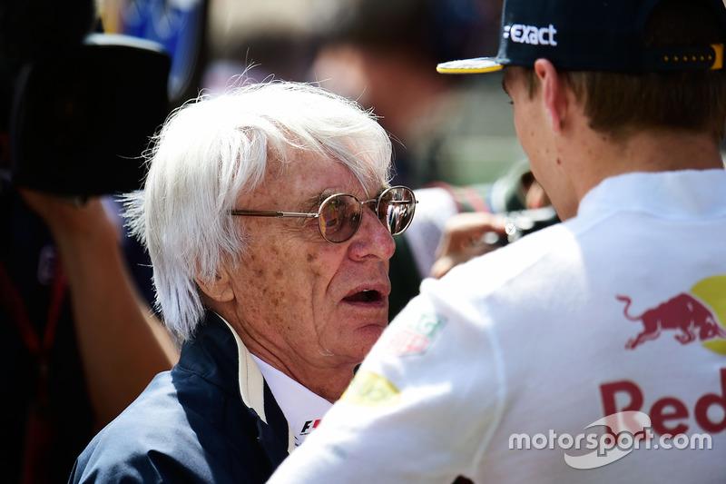 Bernie Ecclestone ve Max Verstappen, Red Bull Racing