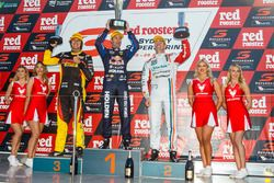 Podium: winner Jamie Whincup, Triple Eight Race Engineering Holden, second place Craig Lowndes, Trip