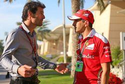 Mark Webber, piloto de la WEC del equipo Porsche - canal presentador 4 y Marc Gené, piloto de prueba