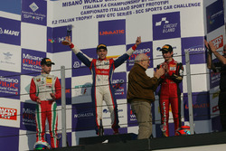 Podium race 4: winner Marcos Siebert, Jenzer Motorsport, second place Juri Vips, Prema Powerteam, third place Raul Guzman Marchina, DR Formula