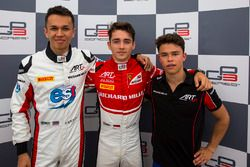 Polesitter Charles Leclerc, ART Grand Prix, second place Alexander Albon, ART Grand Prix, third place Nyck De Vries, ART Grand Prix