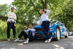 Sébastien Ogier, Volkswagen Polo WRC, Volkswagen Motorsport and Mads Ostberg, Ola Floene, M-Sport Ford Fiesta WRC