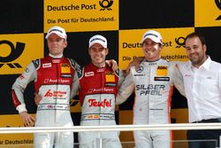 Podium: second place Jamie Green, Audi Sport Team Rosberg, Audi RS 5 DTM; Winner Miguel Molina, Audi