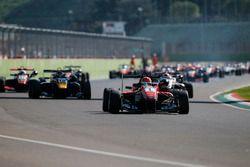Start of the race, Lance Stroll, Prema Powerteam Dallara F312 – Mercedes-Benz leads