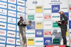 Rookie Podium: Joel Eriksson, Motopark Dallara F312 – Volkswagen and Niko Kari, Motopark Dallara F31