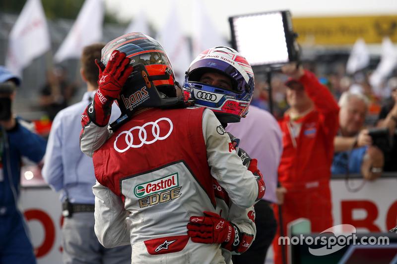 Edoardo Mortara Audi Sport Team Abt Sportsline, Audi RS 5 DTM y Miguel Molina Audi Sport Team Abt Sp