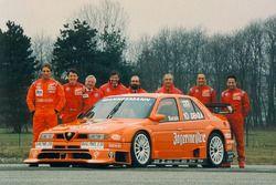 Teampresentatie Alfa Corse JAS met Michael Bartels, Gabriele Tarquini en Jason Watt