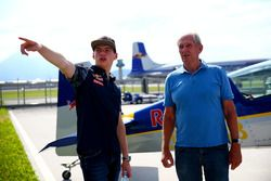 Dr. Helmut Marko et Max Verstappen, Red Bull Racing