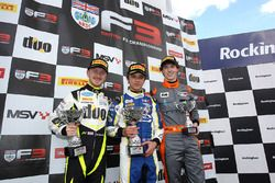 Podium: winner Lando Norris, Carlin, second place Ricky Collard, Carlin, third place Matheus Leist, Double R Racing