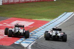 Fernando Alonso, McLaren MP4-31 ve Sergio Perez, Sahara Force India F1 VJM09