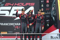 Podium: thrid #28 Belgian Audi Club Team WRT, Audi R8 LMS: Nico Müller, René Rast, Laurens Vanthoor