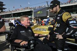 James Hinchcliffe, Schmidt Peterson Motorsports Honda with Sam Schmidt