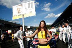 Grid girl of Marco Wittmann (GER) BMW Team RMG, BMW M4 DTM. 21.05.2016, DTM Round 2, Spielberg, Aus