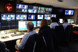 Sala de control de la televisión