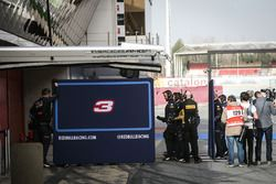 Red Bull Racing screens in the pits