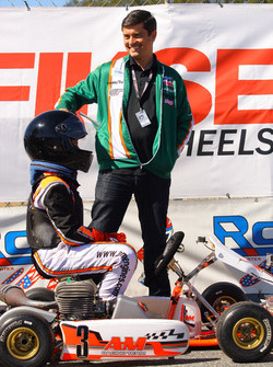 INDY Lights Team Owner Ricardo Juncos with his son Leandro Juncos
