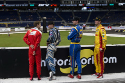 Sebastian Vettel, Scott Speed, Alexander Rossi and Ryan Hunter-Reay, talk