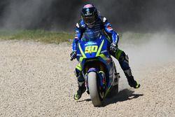 Sylvain Guintoli, Team Suzuki MotoGP runs out