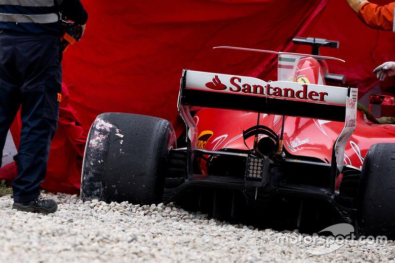 El accidente del Ferrari SF70H de Kimi Raikkonen, Ferrari
