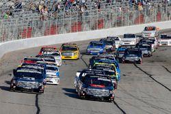 Christopher Bell, Kyle Busch Motorsports Toyota leads Kyle Busch, Kyle Busch Motorsports Toyota at t