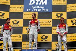 Podium: Racewinnaar René Rast, Audi Sport Team Rosberg, Audi RS 5 DTM, tweede plaats Mike Rockenfell