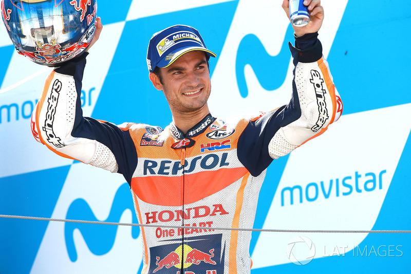 Podium: segundo, Dani Pedrosa, Repsol Honda Team