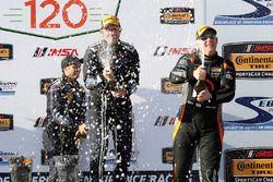 Podium GS : winners #60 KohR Motorsports Ford Mustang: Jade Budford, Scott Maxwell, third place #77 Compass360 Racing McLaren GT4: Matthew Keegan