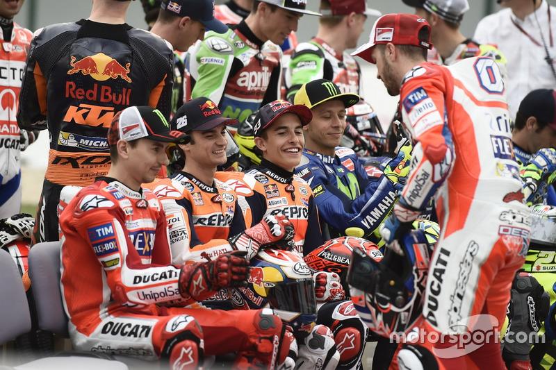 Andrea Dovizioso, Ducati Team; Dani Pedrosa, Repsol Honda Team; Marc Márquez, Repsol Honda Team