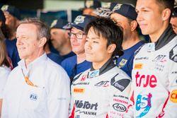 Nobuharu Matsushita, ART Grand Prix avec les bénévoles de la FIA
