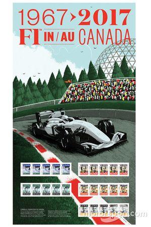 Briefmarken: Jackie Stewart, Gilles Villeneuve, Ayrton Senna, Michael Schumacher, Lewis Hamilton