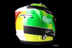 Helmdesign von Mick Schumacher für seine Demofahrt mit dem Benetton B194 seines Vaters Michael Schum