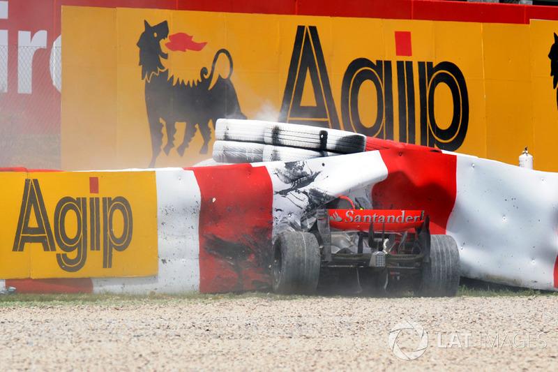 Barcelone 2008 : accident de Heikki Kovalainen