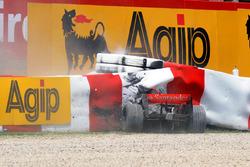 Choque de Heikki Kovalainen, McLaren MP4-23 Mercedes