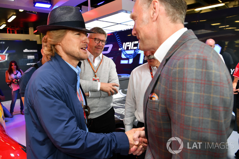 Owen Wilson, Actor and Ross Brawn, Formula One Managing Director of Motorsports