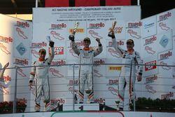 Podio Gara 2: il vincitore della gara Giacomo Altoè, Seat Motor Sport Italia; il secondo classificat