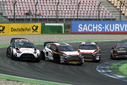 Niclas Grönholm, Olsbergs MSE, Ford Fiesta; Kevin Eriksson, MJP Racing Team Austria, Ford Fiesta ST; Timo Scheider, MJP Racing Team Austria, Ford Fiesta ST