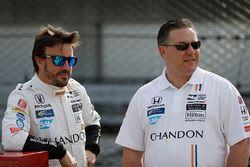 Fernando Alonso, Andretti Autosport, Honda; Zak Brown, McLaren-Chef