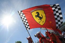 Des drapeaux Ferrari