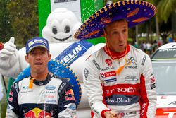 Winner Kris Meeke, Citroën World Rally Team, second place Sébastien Ogier, M-Sport
