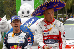Winner Kris Meeke, Citroën World Rally Team, second place Sébastien Ogier, M-Sport