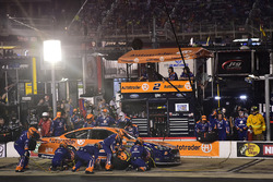 Brad Keselowski, Team Penske Ford, makes a pit stop
