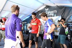 Сэм Бёрд, DS Virgin Racing, Даниэль Абт, ABT Schaeffler Audi Sport, и Антониу Феликс да Кошта, Amlin Andretti Formula E Team