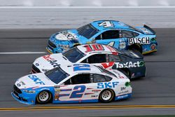 Brad Keselowski, Team Penske, Ford; Danica Patrick, Stewart-Haas Racing, Ford; Kevin Harvick, Stewar
