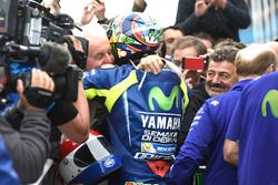 Race winner Valentino Rossi, Yamaha Factory Racing with Will Hartog