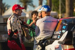 Jari-Matti Latvala, Toyota Yaris WRC, Toyota Racing and Ott Tänak, M-Sport, Ford Fiesta WRC