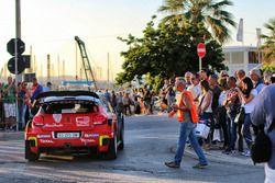 The car of Craig Breen, Martin Scott, Citroën C3 WRC, Citroën World Rally Team nd fans and atmospher