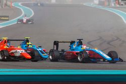 Akash Nandy, Jenzer Motorsport leads Tatiana Calderon, Arden International & Alessio Lorandi, Jenzer Motorsport